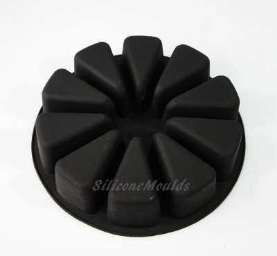 10 Portion / Slice Sectional Silicone Cake Baking Mould