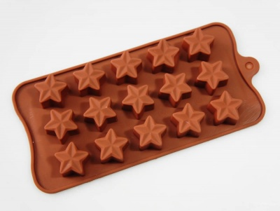 15 Chocolate 3D Star Silicone Candy Baking Mould