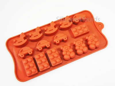 Childs Play - Building Blocks / Bears - Silicone Chocolate Candy Mould