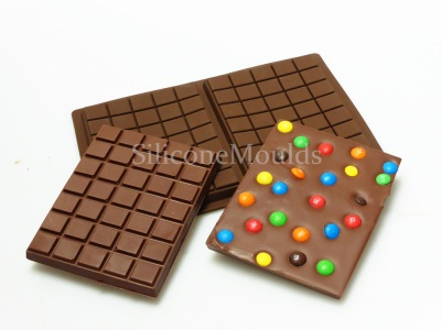 2 cell Large 275g Chocolate Slab Bar Silicone Baking Mould