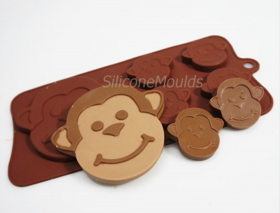 4+1 Cheeky Monkeys Chocolate Collection Silicone Mould