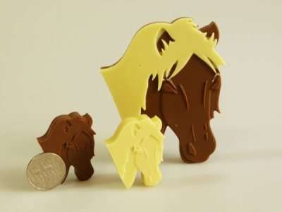 4+1 Horse / Pony Chocolate Silicone Baking Mould - Farm Animals