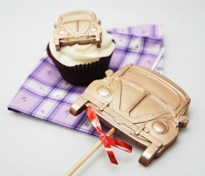 4+1 Retro Beetle Style Car Lolly / Chocolate Bar Silicone Mould