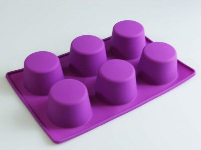 6 Extra Deep / Mini Victoria Sponge Cake Silicone Muffin Baking Mould