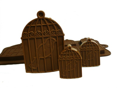 6+1 Bird Cages Chocolate / Candy Silicone Baking Mould ©SJK