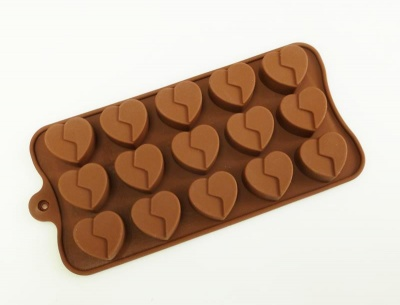 15 Chocolate Broken Heart Silicone Candy Baking Mould
