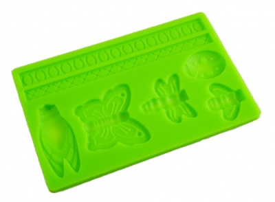 BUTTERFLY / INSECT Sugar Paste Silicone Push Mould for Cake Decorating