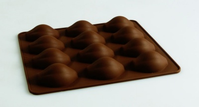 12 cell COCOA PODS - Chocolate Collection Silicone Mould