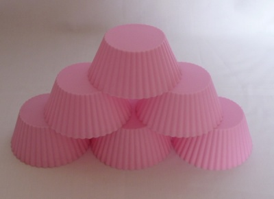 6pc Individual Silicone Cupcake Mould Set - PALE PINK – ideal for kids