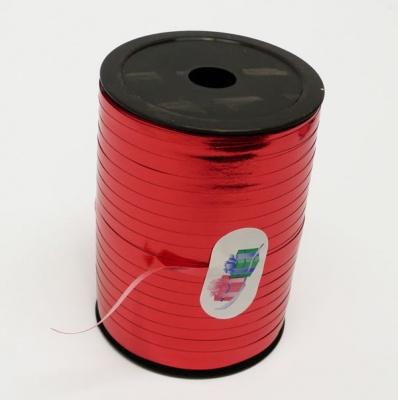 METALLIC RED Curling Ribbon - 5mm wide 250 metres