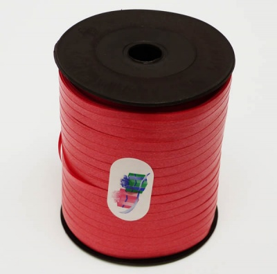 RICH RED Curling Ribbon - 5mm wide 500 metres