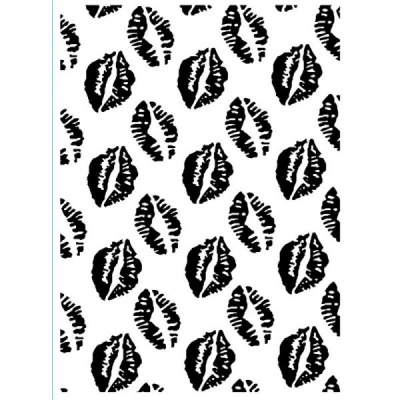 LIPS - Embossing Folder 4.23 x 5.75 inches by Darice