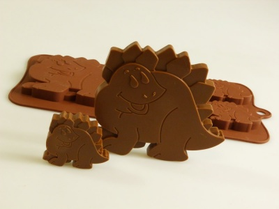 4+1 Dippy Dinosaurs Silicone Chocolate / Baking Mould