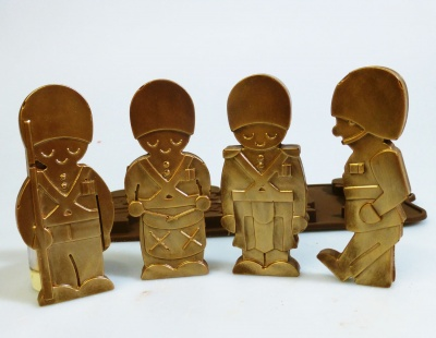 4 cell Drummer Boys / Toy Soldiers Novelty Silicone Chocolate Mould