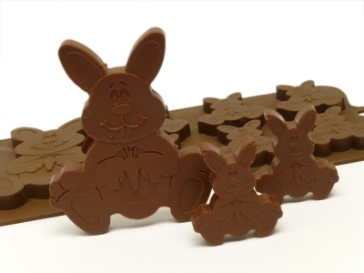 6 + 1 Easter Bunny Chocolate / Candy Silicone Baking Mould