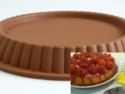 Large 10.5 inch Silicone Tart / Flan Pan Cake Baking Mould