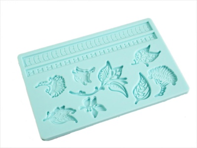 FLORAL Sugarpaste Silicone Push Mould for Cake Decorating