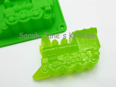 9 GREEN Train (Engine) Silicone Soap / Jelly Mould - CLEARANCE