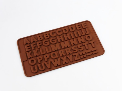 Mini Letters Alphabet (Embellishing) Silicone Mould - Ideal for Flower Paste / Chocolate