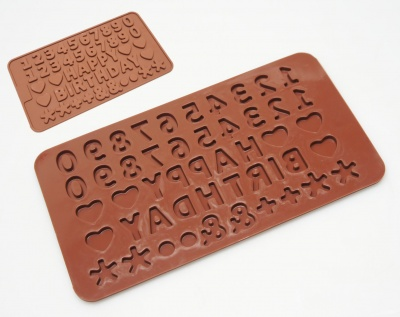 Mini Numbers / Happy Birthday (Embellishing) Silicone Mould - Ideal for Flower Paste / Chocolate