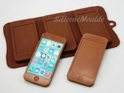 3 cell Mobile Smart Phone Chocolate / Candy Bar Silicone Baking Mould