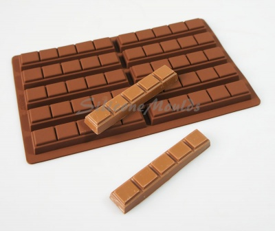 35g - 10 cell 5 Finger Section Rectangular Silicone Chocolate Bar Mould N075