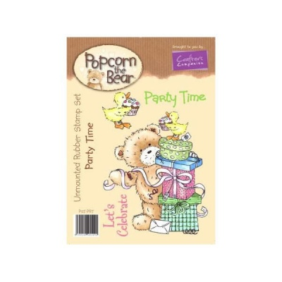 Popcorn the Bear Birthday Collection - Party Time Stamp Set