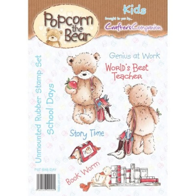 Popcorn the Bear Kids Collection School Days Stamp Set