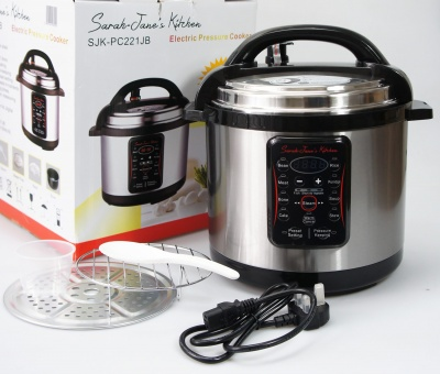 6Ltr Electric Multi Function Pressure Cooker / Rice Steamer Pot (Stainless Steel Body)