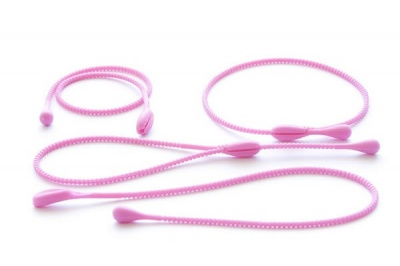 Pack of 4 Silicone Food Ropes / Ties - PINK - CLEARANCE