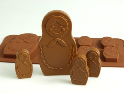 6+1 Russian Doll / Matryoshka Chocolate Collection Silicone Mould