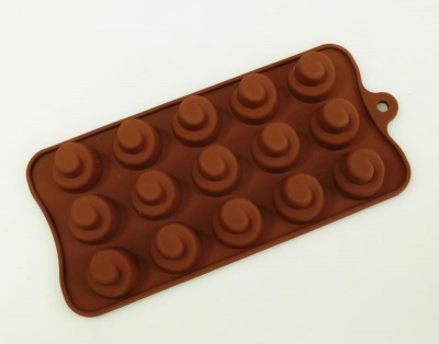 15 cell Spiral / Whip Silicone Chocolate Mould
