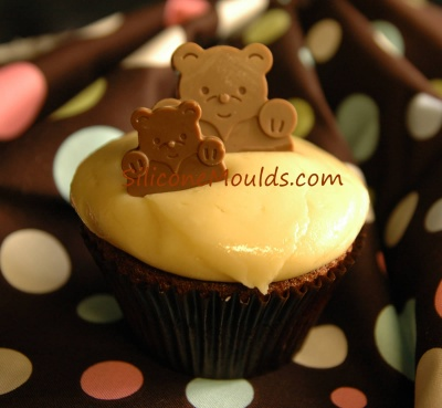 TEDDY LOVES ME Silicone Chocolate Mould - Perfect for Cupcake Decorations