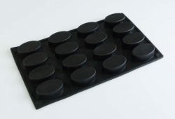 16 cell Oval Chocolate / Mini Friand Silicone Cake Baking Mould