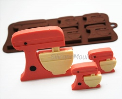 4+1 Kitchen Stand Mixer Lolly / Chocolate Bar Silicone Baking Mould