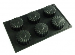 6 cell Daisy Silicone Cake Baking Mould - also popular for soap making