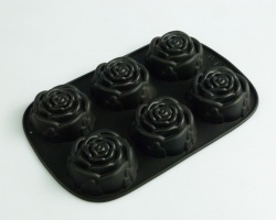 6 Rose / Roses Fancy & Stylish Flexible Silicone Mould