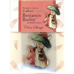 Beatrix Potter Acrylic Stamp - Benjamin Bunny - Paper / Card Crafting