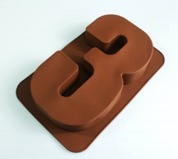 LARGE NUMBER 3 - Birthday Cake Silicone Baking Mould