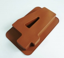 LARGE NUMBER 4 - Birthday Cake Silicone Baking Mould