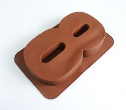 LARGE NUMBER 8 - Birthday Cake Silicone Baking Mould