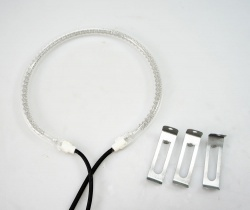 Replacement Halogen Oven Heating Element Bulb and Clips 150mm dia 1200/1400W