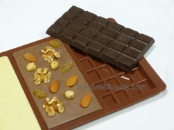 3 cell Bar Large Silicone Chocolate Mould (95g)
