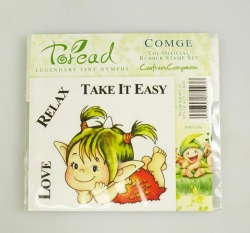 Toread Nymphs Rubber Stamp - COMGE by Crafter's Companion - Paper Crafting