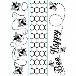 BEES - Small Borders Embossing Folder 4.23 x 5.75 inches - by Darice