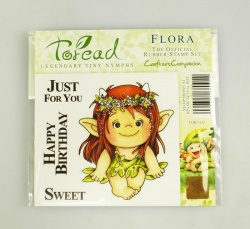 Toread Nymphs Rubber Stamp - FLORA by Crafter's Companion