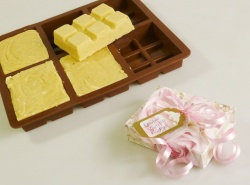 6 cell TOFFEE / FUDGE 100g Bar Silicone Mould