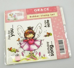 Angelica and Friends - GRACE Rubber Stamp Set (Crafters Companion)