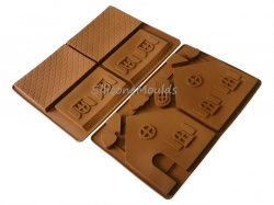Chocolate / Gingerbread House Silicone Moulds - 2 Part Set