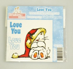 Strawberry Kisses - LOVE YOU Stamp Set